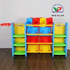 Bộ kệ đồ chơi có bóng rổ