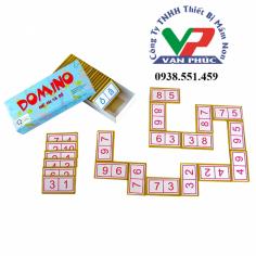 Domino chữ cái và số ( 28CT)